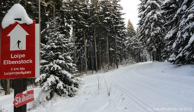 Langlauf Ski Loipen ... bei Eibenstock ( Erzgebirge )