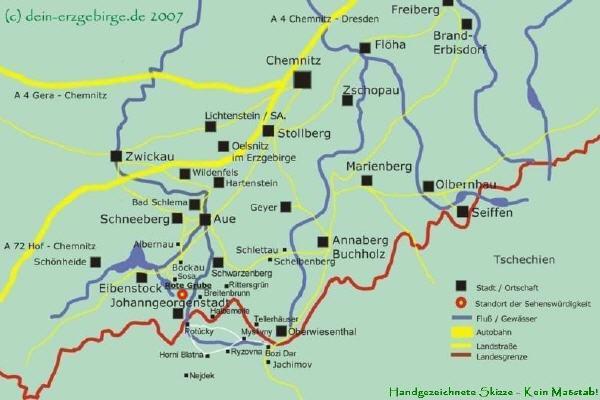 Bergbau Erzgebirge Karte.Binge Rote Grube Bei Sosa Erzgebirge Sachsen